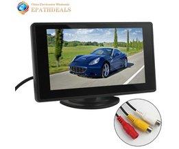 4.3 Inch Kleuren TFT LCD Parking Auto achteruitrijcamera Monitor Auto achteruitkijkspiegel Backup Monitor 4.3 ''2 Video-ingang voor Achteruitrijcamera DVD