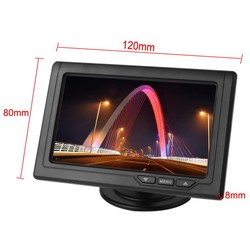 MyXL 4.3 Inch Auto Monitor TFT LCD 480x272 16:9 Screen 2 Manier Video-ingang Voor Achteruitrijcamera Backup Reverse Camera