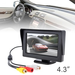 MyXL 4.3 Inch HD Kleur TFT LCD Monitor 2ch Video-ingang Auto Reverse Parking Monitor voor Reaview Camera DVD VCD