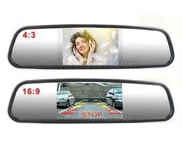 Auto Parkeerhulp Systeem 4.3 Inch TFT LCD Auto Reverse Spiegel achteruitkijkspiegel Monitor 4 Led-verlichting IR Auto Achteruitrijcamera