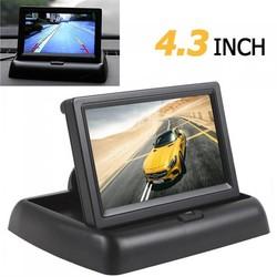 MyXL Auto horizon 4.3 inch tft lcd hd 480x272 resolutie auto Achteruitkijkspiegel Reverse Auto Monitor Voor Parking met 2-Channel Video-ingang