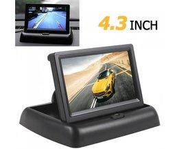 Auto horizon 4.3 inch tft lcd hd 480x272 resolutie auto Achteruitkijkspiegel Reverse Auto Monitor Voor Parking met 2-Channel Video-ingang