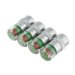 MyXL 4 STKS Auto Styling Autoband Bandenspanning Ventieldopjes Sensor Eye Air Alert Bandenspanning Gereedschap Kit Autobandventiel