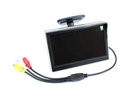 Auto Monitor 5 Inch TFT Lcd-scherm Achteruitkijkspiegel Monitor Ondersteuning Parkeren Backup Achteruitrijcamera Systeem Kan Aansluiten Camera
