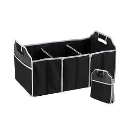 MyXL Zwarte Non-woven Opvouwbare Opbergtas Auto Organisator Kofferbak Opslag Pakket Automobiel Opbergen Opruimen Interieur Accessoires