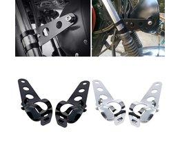 2x Universele 33-45mm Motorcycle Koplamp Beugel Vork Oren Voor Bobber Cafe Racer