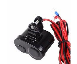 12 V Auto Motorfiets Fiets Waterdichte Sigarettenaansteker USB Power Opladen Socket 1 St MAY26_20