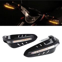 MyXL Zwart Universele Stuur Hand Protector w/LED Daytime Runing LichtPlastic Motorfiets Hand Guards