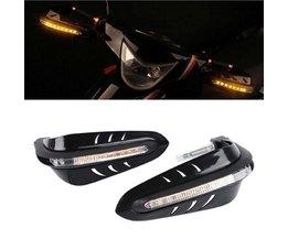 Zwart Universele Stuur Hand Protector w/LED Daytime Runing LichtPlastic Motorfiets Hand Guards
