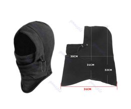Thermische Fleece Balaclava Hoed Hood Ski Bike Wind Stopper Gezichtsmasker Halswarmer Winter Fleece Motorfiets Hals Helm JUN19