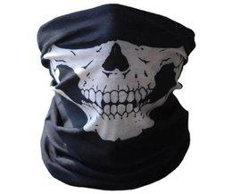 KWOKKER Motorfiets Schedel Masker Halloween Cosplay Fiets Ski Skull Masker Half Gezichtsmasker Ghost Sjaal Halswarmer schedel Party Masker
