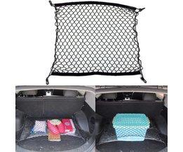 Elastische Auto Mesh Bagagenet met 4 Plastic Haken Automobiel Kofferbak Organizer Opbergtas Houder Auto-accessoires 70x70 cm