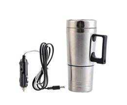 300 ml Auto Gebaseerd Verwarming Rvs Cup Waterkoker Reis Koffie Thee Verwarmde Mok Motor Sigarettenaansteker Plug