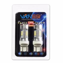 MyXL VANSSI Paar T20 7443 W21/5 W LED 21SMD Bulb Voor Lada Kalina Granta Accessoires Front Richtingaanwijzer DRL Licht Lamp Wit 6000 K