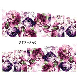 MyXL 1 Vellen Water Overdracht Vrouwen Volledige Cover Sticker Stickers Nail Art Beauty Paars Rose Decoraties Polish Tips TRSTZ369