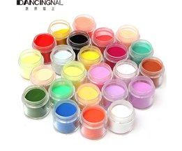 24 Kleur Jumbo Fijne Shiny Glitter Nail Art Kit Acryl UV Poeder Dust Tip 3D DIY