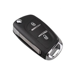 MyXL RIN Afstandsbediening Autosleutel Case Voor Citroen C2 C3 C4 C5 C6 C8 2 Knop Gewijzigd Flip Autosleutels Voor Peugeot 207 307 407 CE0536 VA2