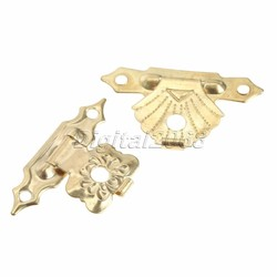 MyXL 12 Stks Ijzer Antieke Lock Box Gesp Decoratieve Gouden SieradenWijn Box Houten Case Hasp Klink Kistjes Vintage Sluitingen w/Schroeven