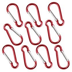 MyXL 10 Rood S Karabijnhaak Camp Spring Snap Clip Hook Sleutelhanger Sleutelhanger