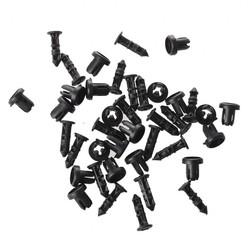 MyXL SODIAL (R) 20 Stks 9mm Hole Push in Expanding Schroef Panel Clips Plastic Klinknagel Zwart