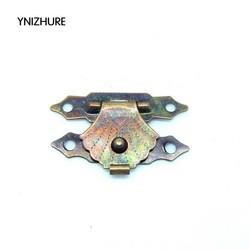 MyXL 50 stks 29*19mm hasp en nieten Kleine houten kist gesp driehoekige houten bloem box sluiting generieke moderne metalen hasp