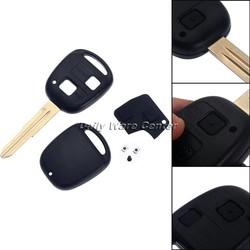MyXL Auto Vervanging 2 Knoppen Afstandsbediening Sleutelhanger Case Shell Toyota Yaris Rubber Pad Switch Blade Reparatie Afstandsbediening Klep accessoires