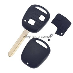 MyXL 2 Knoppen Keyless Entry Auto Afstandsbediening Sleutelhanger Shell Case voor Toyota Avensis Toy47 Vervanging Autosleutel Cover Switch Knop Rubber