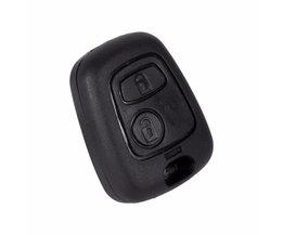 1 Stks 2 Knop Afstandsbediening Sleutelhanger Case Shell Cover Peugeot 106 107 206 207 307 406 407