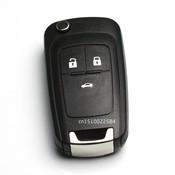 Flip Vouwen Sleutel Shell voor Chevrolet Cruze Afstandsbediening Sleutel Case Keyless Fob 3 Knop Ongesneden HU100 Blade voor Chevrolet LOGO inbegrepen