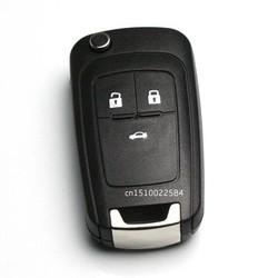 MyXL Flip Vouwen Sleutel Shell voor Chevrolet Cruze Afstandsbediening Sleutel Case Keyless Fob 3 Knop Ongesneden HU100 Blade voor Chevrolet LOGO inbegrepen