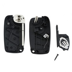 MyXL RIN Sleutel Covers Voor FIAT 3 Knop Punto Ducato Stilo Panda Bravo Navy Flip Fob Zwart Opvouwbare Sleutel Shell Case Cover