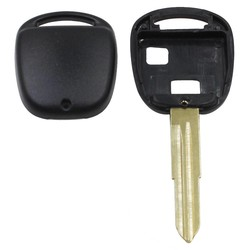 MyXL 2 Knop Afstandsbediening Autosleutel Shell Case Voor Toyota Yaris Corolla Hiace Met Toy 41 Blade Vervanging Fob Cover