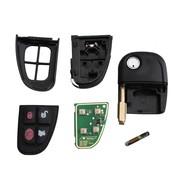 RIN 4 Knop Compleet Keyless Entry Afstandsbediening Sleutelhanger Clicker Voor Jaguar S-Type XJ8 X-type NHVWB1U241 315/433 MHz Met 4D60 Chip