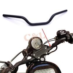 """MyXL 1 """"25mm Motorfiets Zwart Ijzer Tracker Stuur Slepen Bars Voor Harley Sportster XL 883 1200"""