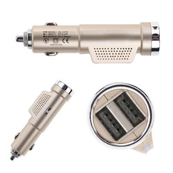 MyXL Auto-styling Anion Verse Auto Luchtreiniger 5 V 1A Dual USB Auto-oplader met Schakelaar Knop Sigaret aansteker Plug Charger Adapter