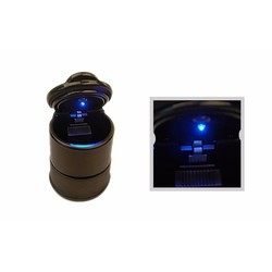 MyXL zwarte duurzaam draagbare auto asbak auto-interieurs LED lamp asbak Bekerhouder duurzaamkoop
