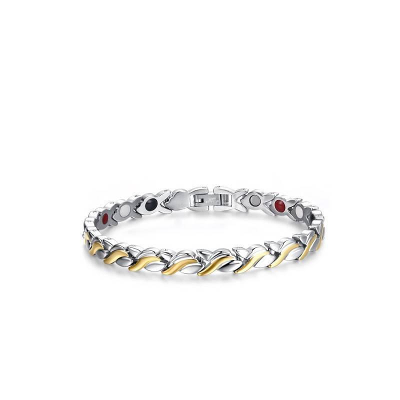 Mode Gezondheid Magnetische Armband Voor Vrouwen 21.6 cm Rvs Met Magneet Hand Armbanden