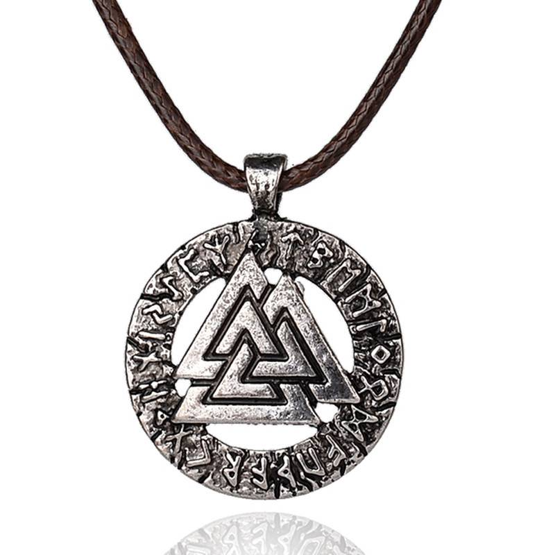 Pagan amulet hanger Mannen ketting Scandinavische Viking sieraden Odin's Symbool van Noorse Vik