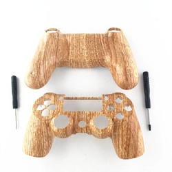 MyXL Custom Houtnerf Case Voor Sony Playstation 4 PS4 Controller Hydro Ondergedompeld Woodgrain Shell Mod Kit Voor Dualshock 4 Controller