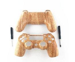 Custom Houtnerf Case Voor Sony Playstation 4 PS4 Controller Hydro Ondergedompeld Woodgrain Shell Mod Kit Voor Dualshock 4 Controller