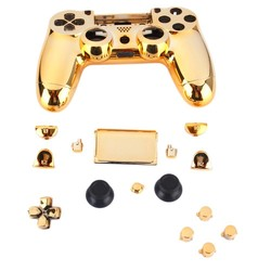 MyXL Gold Chrome Vervanging Hydro Ondergedompeld Shell Mod Kit voor PS4 Controller