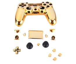 Gold Chrome Vervanging Hydro Ondergedompeld Shell Mod Kit voor PS4 Controller