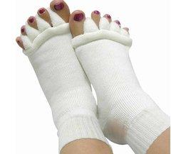 1 Paar Voet Gezondheidszorg Vijf Teen Sokken Teenseparators Bunion Pedicure Pijnbestrijding Sokken Vinger Massager Teen Separator Bone Care