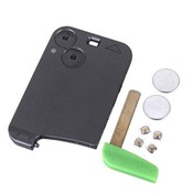 Keyless Remote Smart Reparatie Kit Key Shell Case 2BT Voor Renault Laguna + 2 Batterij