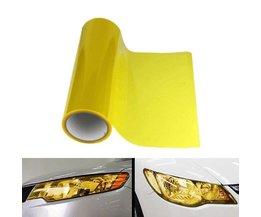 BBQ @ FUKA Auto Koplamp Tailight Filmfiche Cover Sticker Geel Vinyl Wrap Auto styling Fit Voor Jeep Nissan Honda VW Skoda