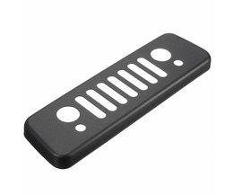 Achter Zwart Aluminium Grille Derde Stop Lamp Remlicht Lam Cover Trim Sticker Voor Jeep/Wrangler JK 2007-