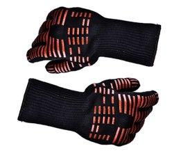 Hittebestendige dikke Silicon Keuken barbecue oven Koken handschoen BBQ Grill Handschoen Lange Extreme Warmte Voor Extra Onderarm Bescherming