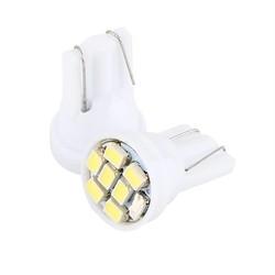 MyXL Auto-Styling 100 Stks/partij T10 8 SMD 1206 LED Auto Interieur Lampen Auto Indicator Lamp Wit LED auto licht