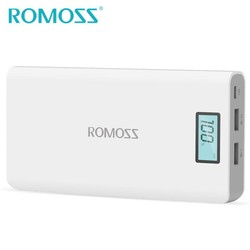 MyXL Originele ROMOSS 20000 mAh Power Bank Sense 6 Plus Externe Batterij Powerbank Backup Power Dual USB voor Samsung & iPhone