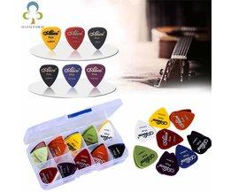 50 stks plectrums 1 box case Alice akoestische gitaar accessoires muziekinstrument dikte 0.58-1.5Ontwerp Y14